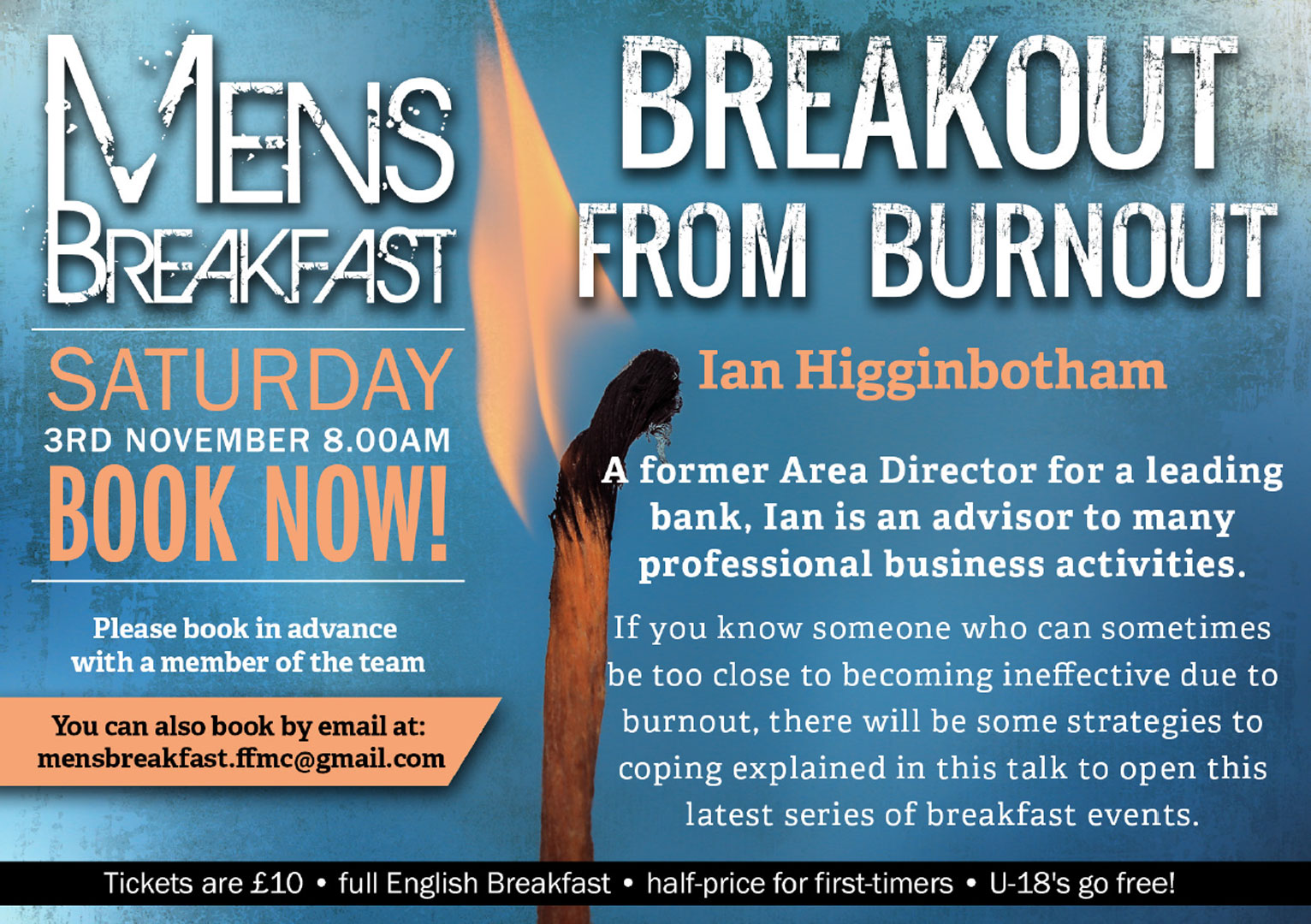 Breakout from Burnout | Men's Breakfast